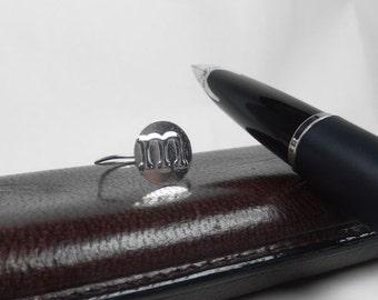 Monogram Ring, Alphabet Ring, Initial Ring, Alphabet Monogram Ring, Sterling Silver Monogram Ring, Silver Initial Ring, Monogram Band