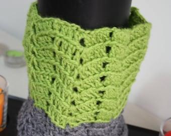 Knitted woman in crochet