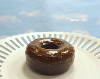 Fake Donut Doughnut Glazed Chocolate Frosting DECOR Fake Cake Kitchen Decor Display