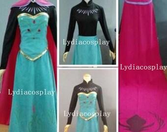Handmade - Elsa Coronation Dress, Elsa Dress, Elsa Coronation Costume, Elsa Coronation Dress Adult/kid, Elsa Costume Adult/Kid