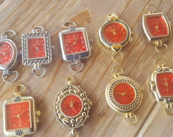 Red Beading Watch Faces with rings, Watch Jewelry, Watch Making, Geneva Watches