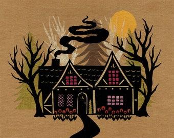 Hide Away - Original Papercutting | Fairy Tale Cabin Children's Art