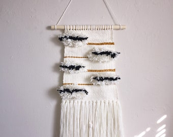 Handwoven wall hanging weaving