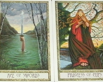 DRUIDCRAFT TAROT READING In-Depth Celtic Cross guidance advice outlook perspective magical pagan images Love Work Creativity Spirit Animals