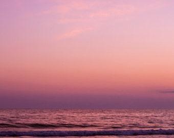 Large Ocean Photograph - 30x45 Fine Art Photography Print - purple pink vertical - Passage No. 1303-9109