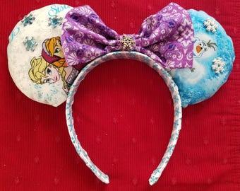 Frozen Themed Mickey/Minnie ears headband
