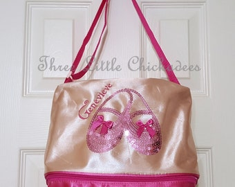 Sequin Gear Dance Tote Bag Personalized Dance Bag Sequin Sparkle Ballet Shoe Dance Bag Recital Gift Birthday Gift Gifts for Girls Dance Tote