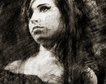 Amy Winehouse - Limited Edition Print 8.5 x 11