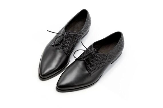 eb96630d1822 ... Women s Flats Ladies Shoes Women Shoes Black Oxfords Shoes Women Oxford  Leather Handmade Formal Leather Shoes ...