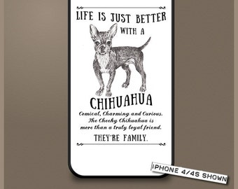 Chihuahua dog phone case cover iPhone Samsung ~ Can be Personalised