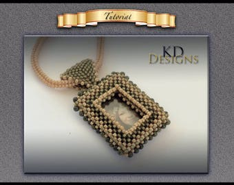 "Tutorial/Pattern for Photo frame pendent ""ONLY"""