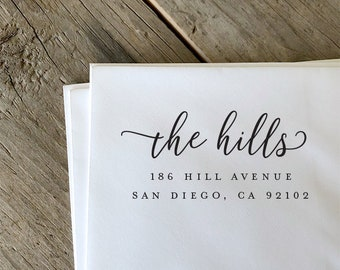 Address Stamp, Return Address Stamp, Self Inking Return Address Stamp, Custom Rubber Stamp, Personalized Self Inking Wedding Stamper
