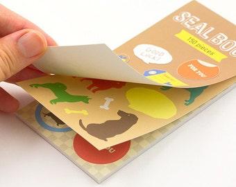 Animal stickers, Sticker sheets, Dogs stickers, Sticker seal, Label stickers, Midori Japan, Japanese Sticker kit