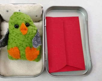 Easter Chilled Out Chick. Tinny Tinies with bed and adoption certificate.