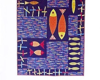 Fish and Chips Quilt Pattern by Quilting Fabrications Leslie Edwards