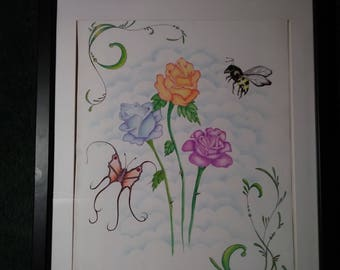 Butterly, Bee and Blooms
