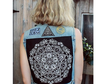 Mandala Screen-Printed Back Patch