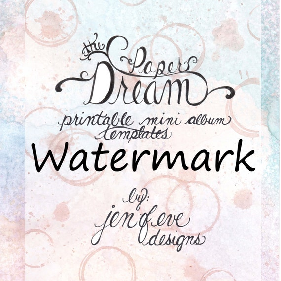The Paper Dream Printable Mini Album Templates in Watermark and Plain