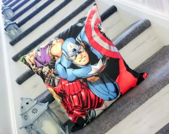Captain america, marvel, hawk eye, ironman, shield, cushion, character, pillow, cover only