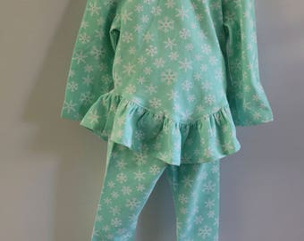 Mint Green Snowflake Pajamas