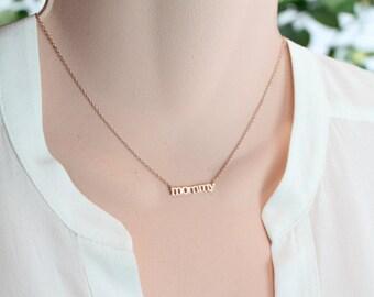 Mommy necklace etsy mommy necklace goldsilverrose gold necklace choker length mothers day aloadofball Gallery