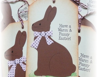 Easter tags - Chocolate Easter Bunny Tags (2) OVERSIZED TAGS