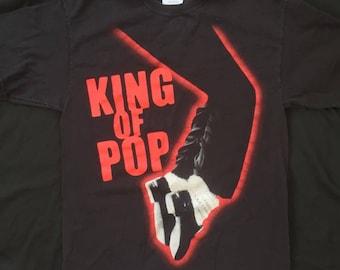 """Vintage Michael Jackson """"King of Pop"""" Tee"""