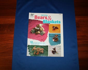 Birthday Bears & Blankets Crochet Pattern Booklet Annie's Attic 876505 Crocheting Projects and Patterns Book Teddy Bears Afghan Animals