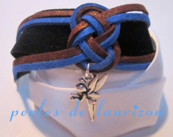 Meli melo blue and copper bracelet and his fairy