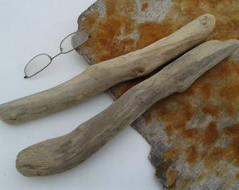 2 pieces 14'' [35.5cm]. Quality driftwood. Driftwood for various crafts and decoration. DIY driftwood.