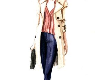 """Custom Fashion Sketch/Illustration 7""""x10""""-Digital"""