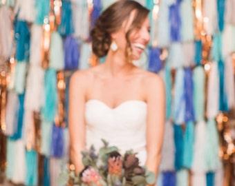 Photo Backdrop // Tassel garland backdrop // wedding backdrop // photography backdrop // photo booth backdrop