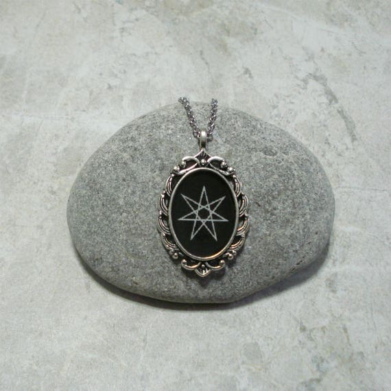 Elven star necklace septagram jewelry heptagram pendant aloadofball Choice Image