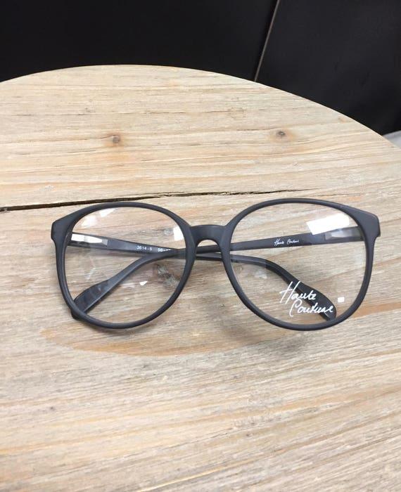 Vintage Dead Stock Haute Couture Black Framed Glasses