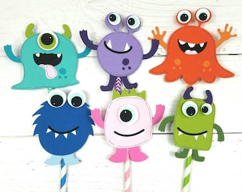Little Monsters Cupcake Toppers