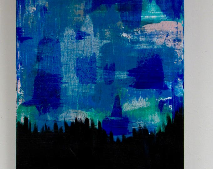 """Abstract Painting """"Into the Forest"""""""