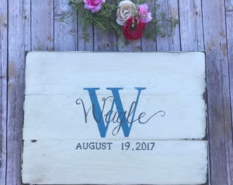Custom Wedding Guest Board - Wedding Guest Book Alternative - Rustic Wedding Decor - Wedding Guestbook