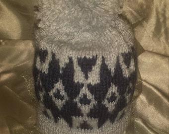 Handmade knitted baby hat