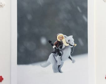 Vacation on Hoth  (blank greeting card)