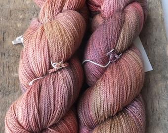 Midnight in the Garden - Hand Dyed Merino Silk Lace Yarn