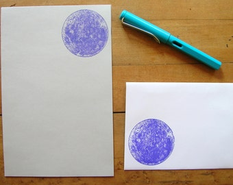 purple full moon stationery letter set - perfect for writing to a spacey friend