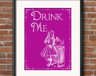Alice in Wonderland Decor - Party Decorations - Wall Art - Centerpiece Party Gifts - Favors - Party Supplies - Props - 0277