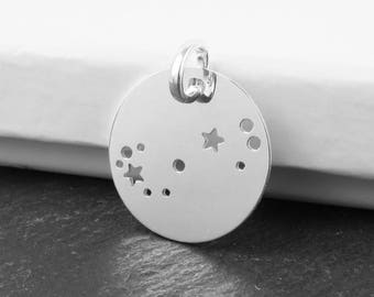 Sterling Silver Scorpio Constellation Pendant 18mm