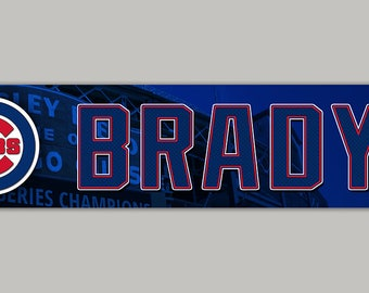 Personalized Chicago Cubs Baseball sign