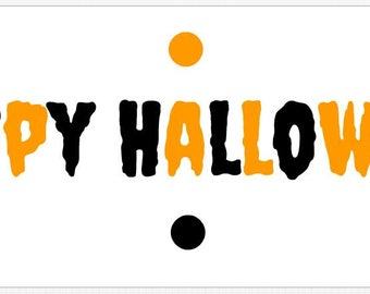 30 Customized Happy  Halloween Party Gift Labels Decor!