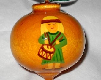 Little Drummer Boy Christmas Ornament, Green, WBO-21