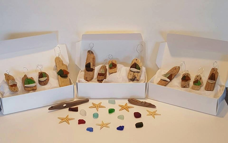 Sea Glass Christmas Tree Ornaments Nova Scotia Sea Glass