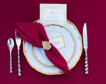 Burgundy wedding napkin cloths set 50 - Wedding linen napkins bulk - burgundy, navy blue, grey - wedding tablescape decor - Fall weddings