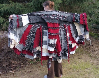 Gypsy Sweater Coat Pattern---- ------ON SALE-------Autumn Special---------tutorial W/ PATTERN Pieces----- No Serger Needed-----Long Elf Hood