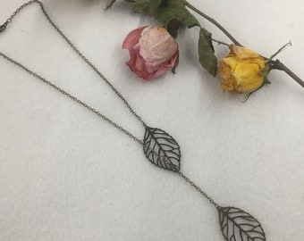 CA Double Fall Necklace_Vintage Gold